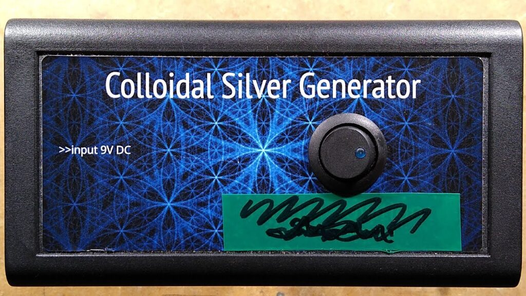 Fixing a colloidal silver unit and making a slightly dangerous one.