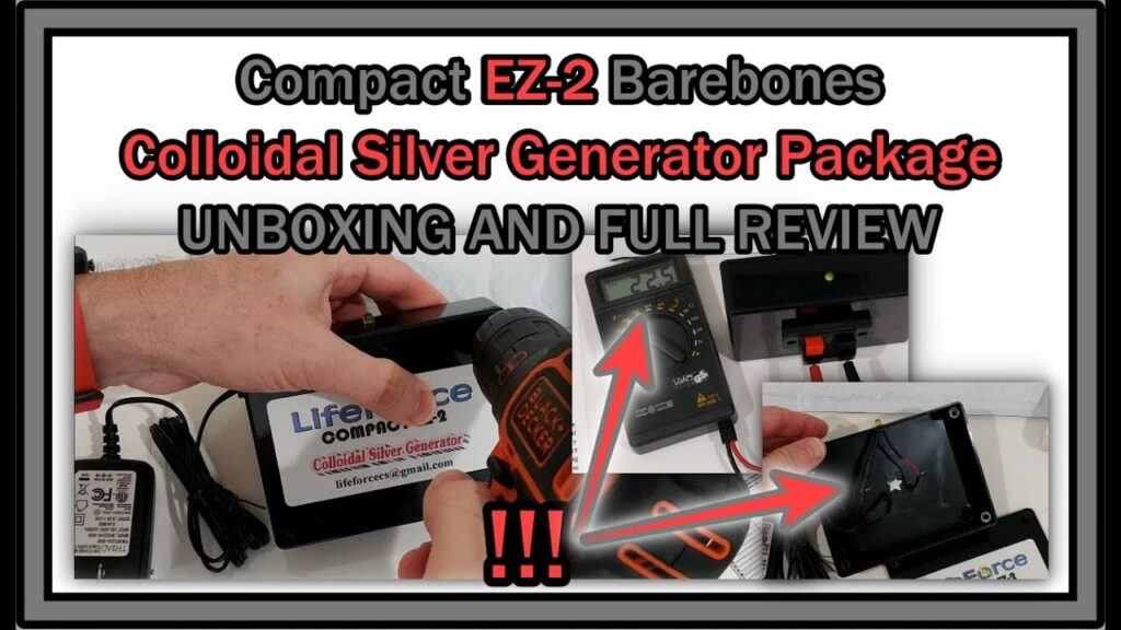 LifeForce Compact EZ-2 Barebones Colloidal Silver Generator Package Devices UNBOXING And FULL REVIEW