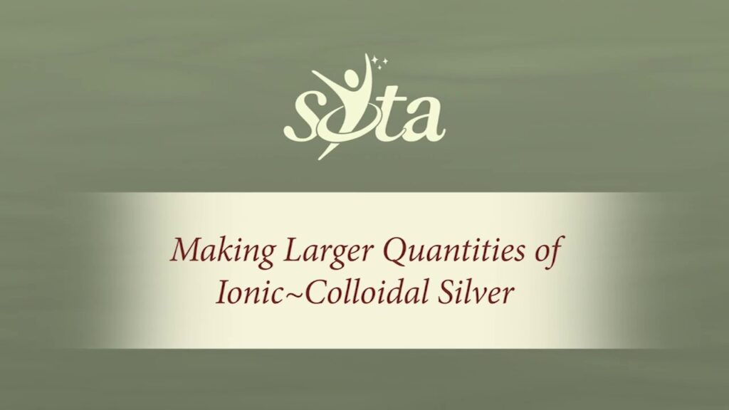 Making Larger Quantities of Ionic~Colloidal Silver