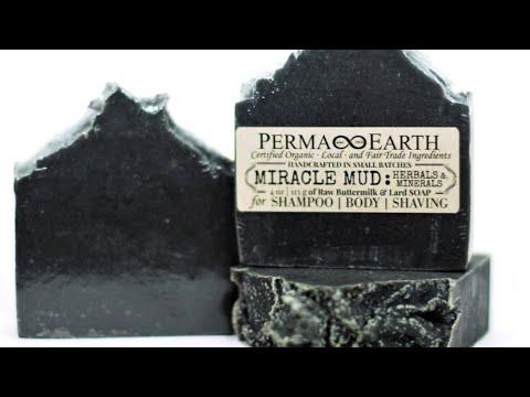 SERIOUS SOAPMAKING – Miracle Mud Bar – Colloidal Silver – Diatomaceous Earth – Charcoal – Turmeric