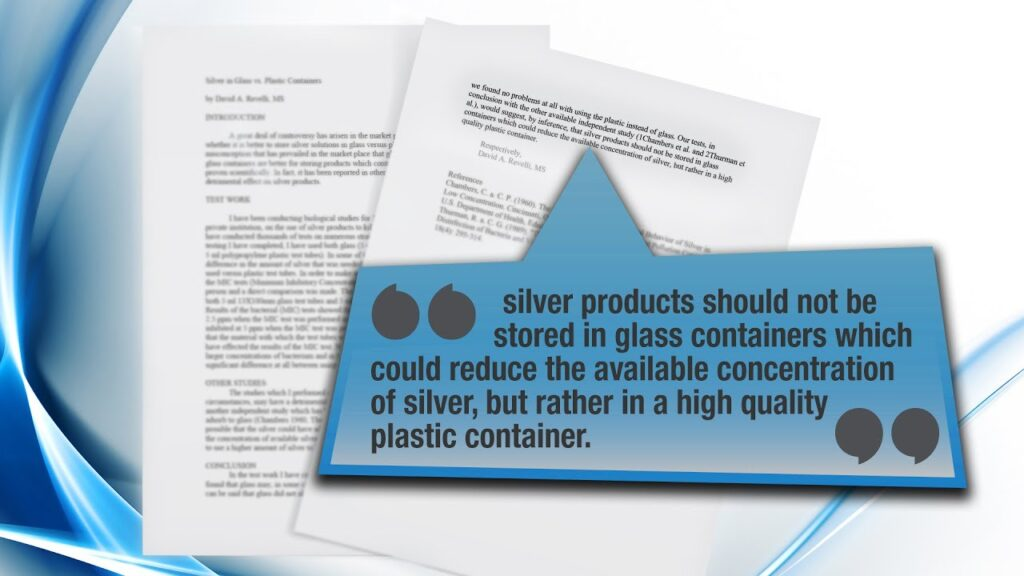 Should Colloidal Silver Be Stored In Glass Bottles or Plastic Bottles? – American Biotech Labs, LLC