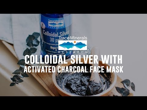 Trace Minerals – Colloidal Silver with Activated Charcoal Face Mask